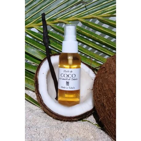 Huile de coco à la vanille